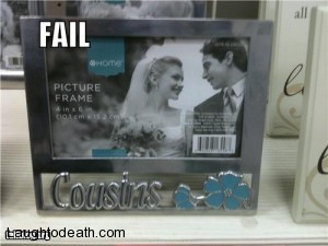 Cousin Marrige picture frame