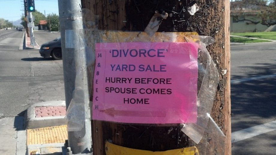 Divorce Yard Sale
