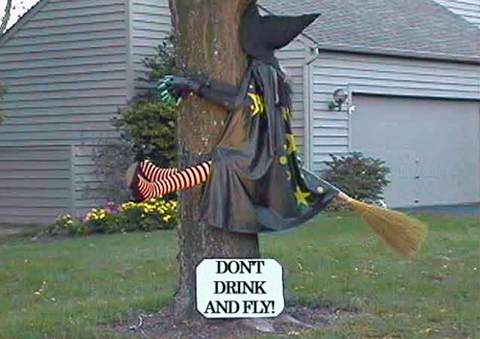 hilarious-funny-witch-halloween-prank-dont-drink-and-drive-joke