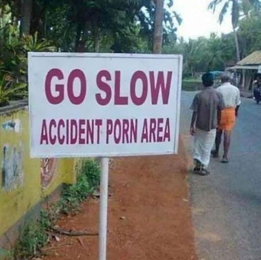 Go Slow Accident Area